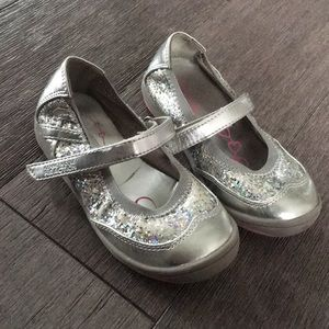 Kenneth Cole sparkling silver sandals shoes 8.5